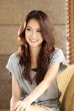 Portrait smiling Asian woman Stock Photo