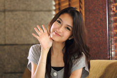 Portrait smiling Asian woman Stock Image
