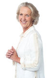 Portrait of smiling attractive old woman Royalty Free Stock Image