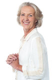 Portrait of smiling attractive old woman Royalty Free Stock Images