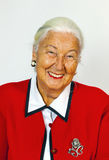 Portrait of smiling attractive senior woman Royalty Free Stock Images