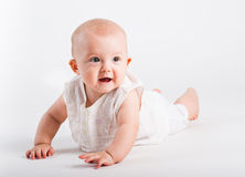 Portrait of the smiling babe Royalty Free Stock Image
