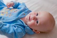 Portrait of smiling baby Stock Photography