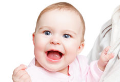 Portrait of smiling baby Stock Images