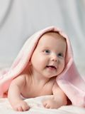 The portrait of smiling baby Stock Images