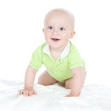 Portrait of smiling baby boy Stock Images