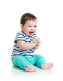 Portrait of smiling baby boy Stock Photos