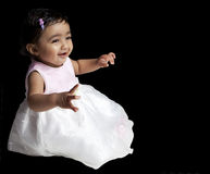 Portrait of Smiling Baby Girl Royalty Free Stock Photography