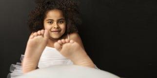 Portrait of a smiling ballet dancer Royalty Free Stock Images