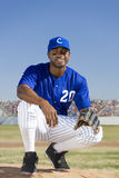 Portrait of smiling baseball player Stock Photography