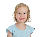 Portrait of smiling beautiful blond little girl. Royalty Free Stock Photos