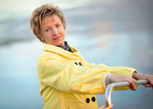 Portrait of a smiling beautiful mature woman Stock Photography