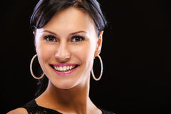 Portrait of smiling beautiful woman Stock Photography
