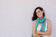 Portrait of smiling beautiful woman Royalty Free Stock Photography