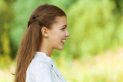 Portrait of smiling beautiful young Stock Photography