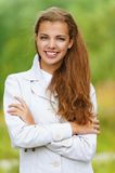 Portrait of smiling beautiful young Royalty Free Stock Images