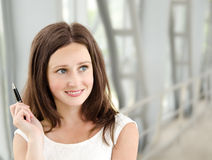 Portrait of smiling beautiful young businesswoman Royalty Free Stock Photography
