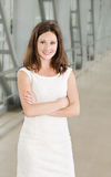 Portrait of smiling beautiful young businesswoman Royalty Free Stock Images
