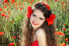 Portrait of smiling beautiful young woman Royalty Free Stock Images