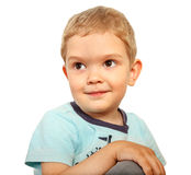 Portrait of a smiling blond boy Royalty Free Stock Photos