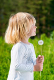 Smiling little boy with a dandelion Royalty Free Stock Photos