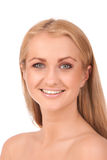 Portrait of smiling blond woman Stock Image