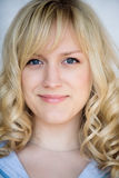 Portrait of the smiling blonde Stock Photography
