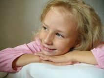 Portrait  smiling blonde girl Royalty Free Stock Photography