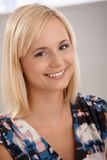 Portrait of smiling blonde woman Stock Image