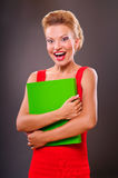 Portrait of a smiling blonde woman Royalty Free Stock Image