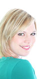 Portrait of smiling blonde woman Royalty Free Stock Photography
