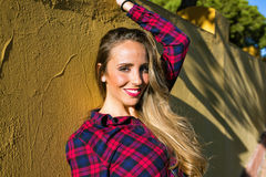 Portrait of smiling blonde woman Royalty Free Stock Image