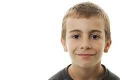 Portrait of the smiling boy. royalty free stock photo