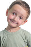 Portrait of the smiling boy. Isolated over white background Royalty Free Stock Images