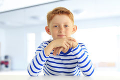 Portrait of a smiling boy Stock Images