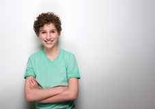 Portrait of a smiling boy with curly hair Stock Photography