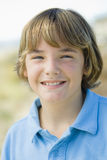Portrait of Smiling Boy Outdoors Royalty Free Stock Image