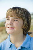 Portrait of Smiling Boy Outdoors Stock Image