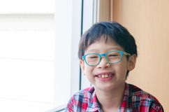 Portrait of smiling boy at school Stock Image