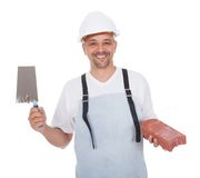 Portrait of smiling bricklayer Royalty Free Stock Photo