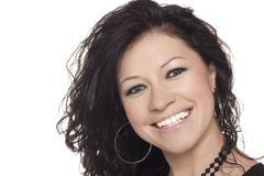 Portrait of smiling brunette royalty free stock photo