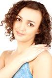 Portrait of smiling brunette stock image
