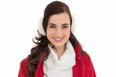 Portrait of a smiling brunette with winter wear Stock Photography