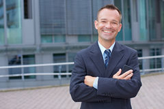 Portrait of smiling business man Stock Image