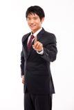 Portrait of smiling business man Stock Photos