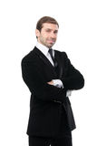 Portrait of smiling business man with arms crossed. Stock Photography
