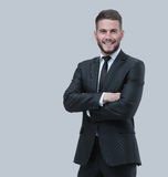 Portrait of a smiling business man. Isolated on white Stock Images
