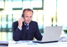Portrait of smiling business man Royalty Free Stock Images