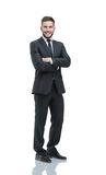 Portrait of a smiling business man.  on white Royalty Free Stock Photography