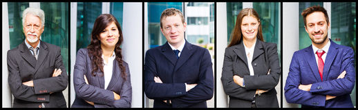 Portrait of smiling business people Stock Image